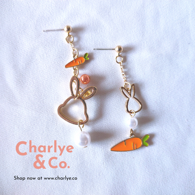Rabbit & Carrot Earrings