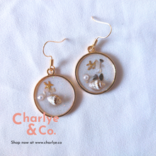 Load image into Gallery viewer, Beach Resin Earrings