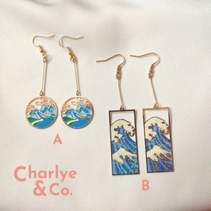 Oriental Painting Earrings