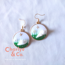 Load image into Gallery viewer, Wave & Seashell Resin Earrings