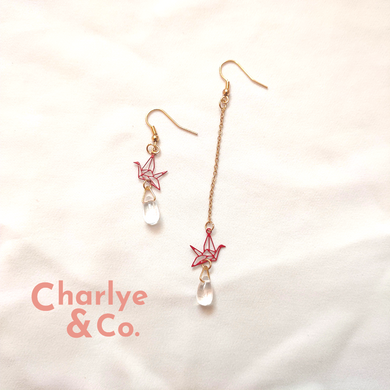 Diamond Origami Earrings
