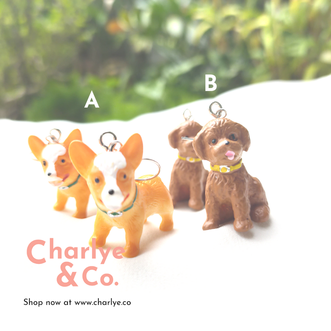 Toy Poodle & Shiba Inu Earrings