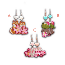 Load image into Gallery viewer, Sakura Cloth Earrings