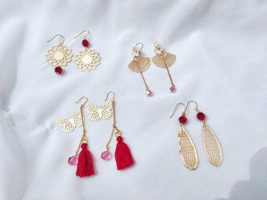 Collaboration between FOTS & Charlye & Co., Chinese New Year Earrings, Mulan, Fei Hong, Feng Mian, Yu Yan