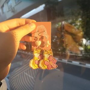 Sakura Cloth Earrings