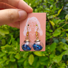 Load image into Gallery viewer, Blue Star in Ball Earrings by Charlye & Co, a fashion accessories shop in Singapore