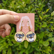 Load image into Gallery viewer, Blue Dog Earrings