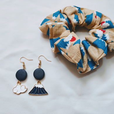 Fuji Scrunchie & Earrings Collaboration