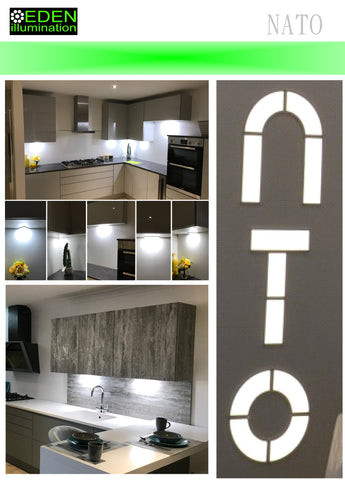 NATO Mini Panel Lights - Kitchen Lights from Eden illumination