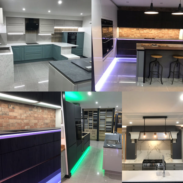 MKM Glasgow Kitchen Showroom with LED Kitchen Lighting from Eden illumination