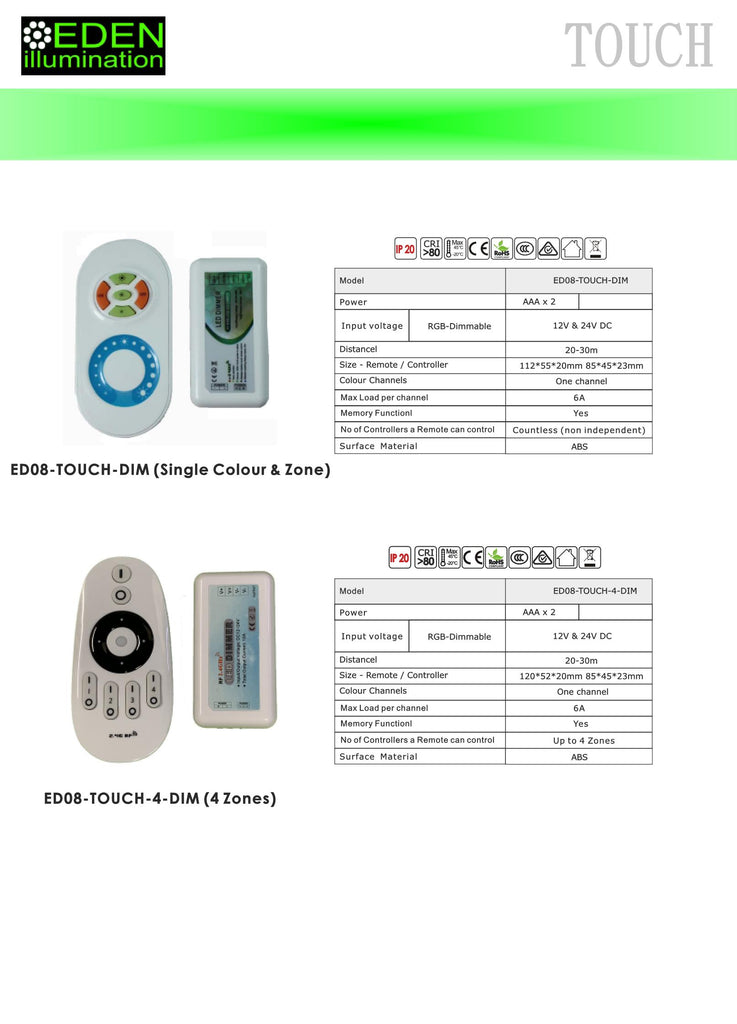 LED 4 Zone Controller for LED strip