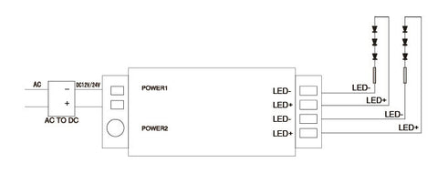 LED Touch Dimmer Wiring Diagram