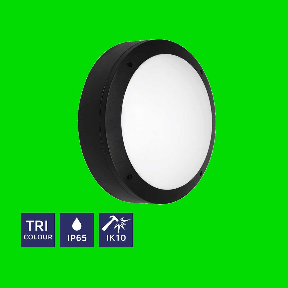 Mini Circular TRI Colour IP65 Bulkhead 11-06-91 - Eden illumination - LED Lighting & Kitchen Lighting - Fife, Scotland