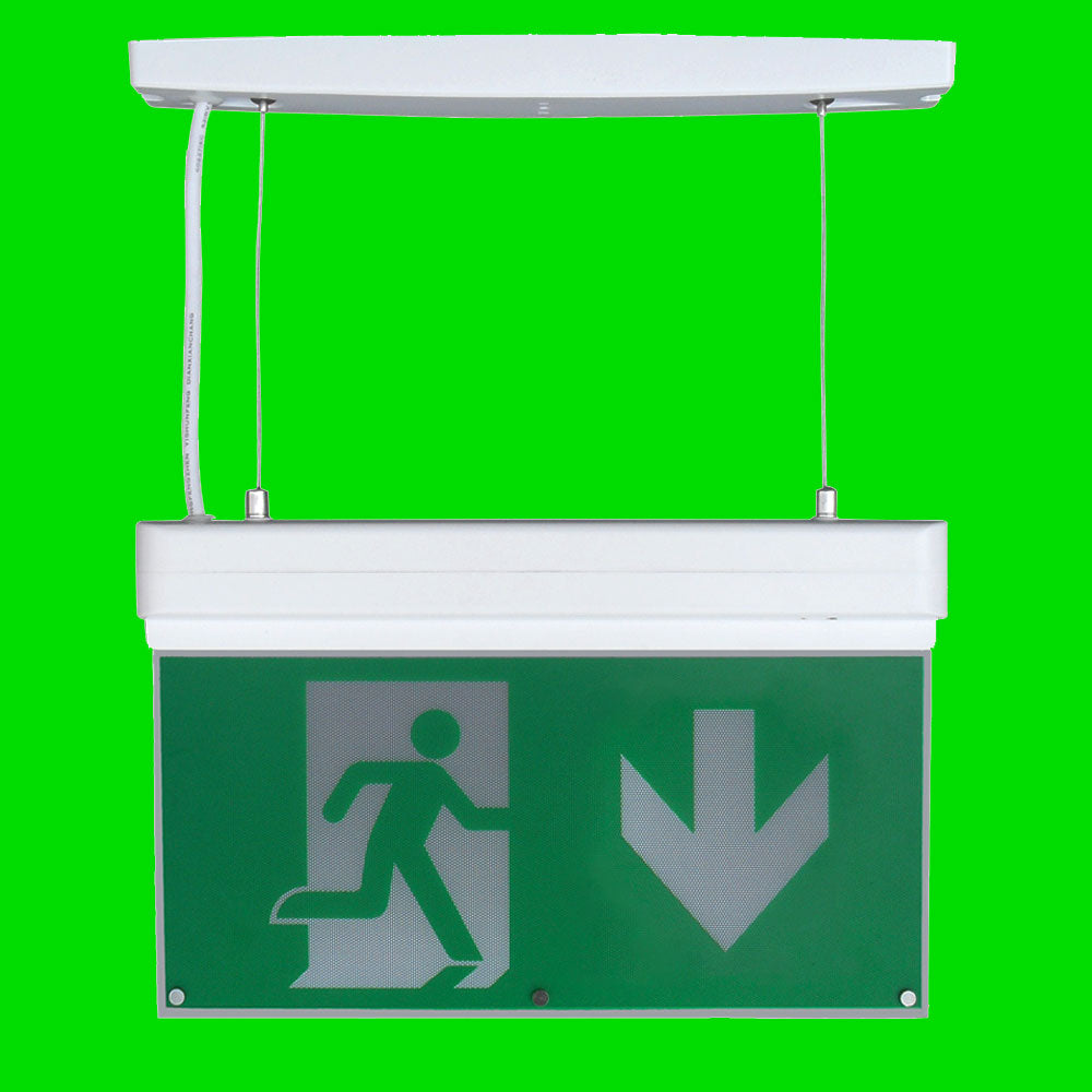Emergency Suspended Exit Sign 44-10-74 - Eden illumination - Kitchen Lighting & Commercial Lighting