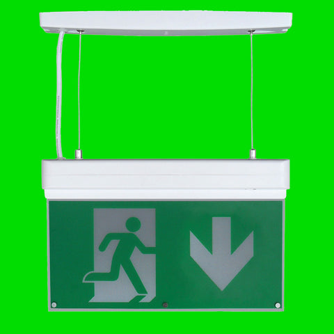 Emergency Suspended Exit Sign 44-10-74