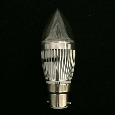 Candle Bulb, B22, 4W, LED, Clear Cover