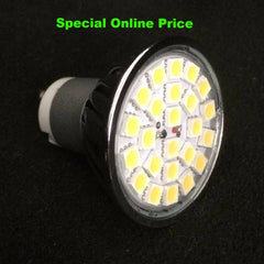 Front View of GU10 LED 4W Non Dimmable 24SMD LED Spot Lights