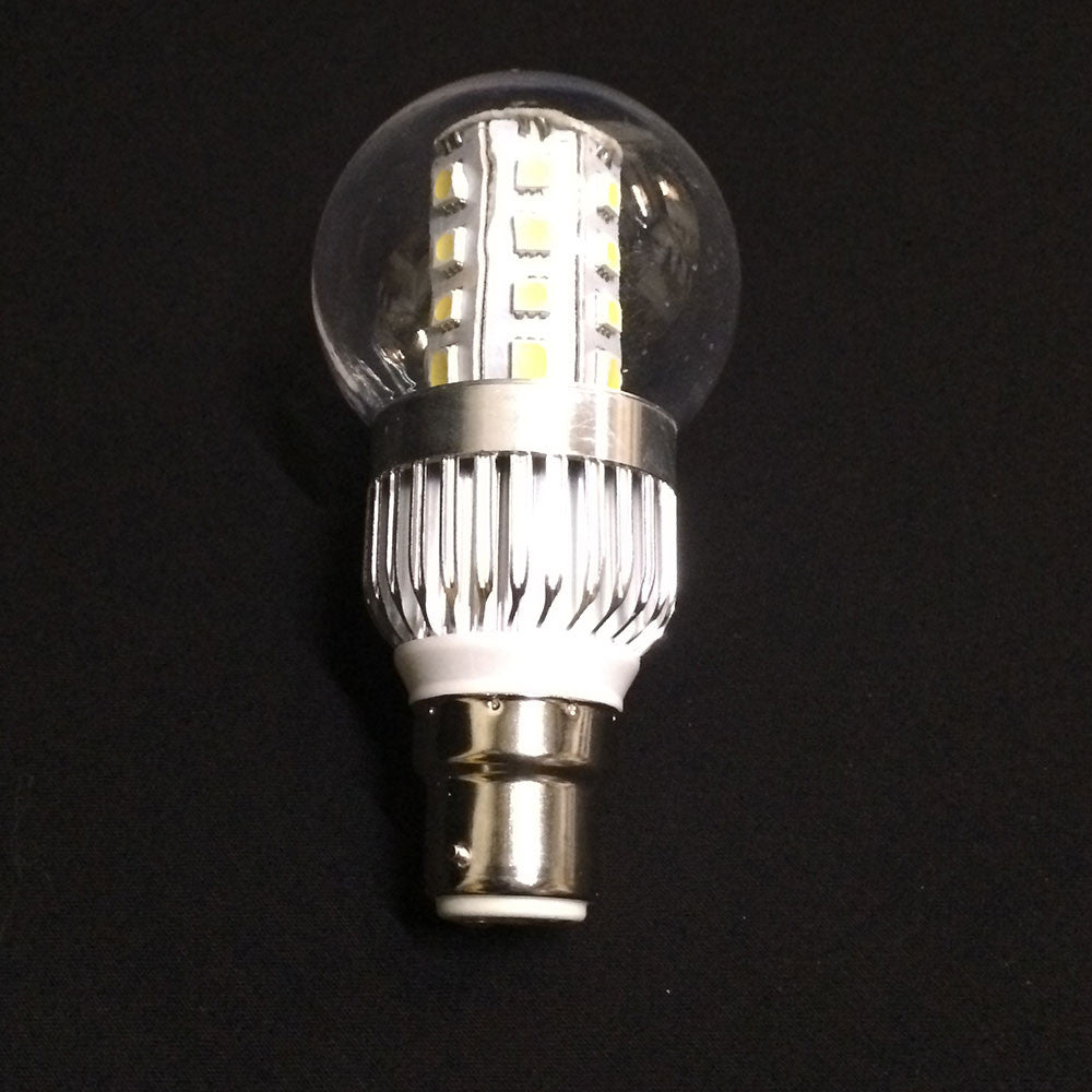 Round Bulb, B22, 5W, LED, Clear Cover