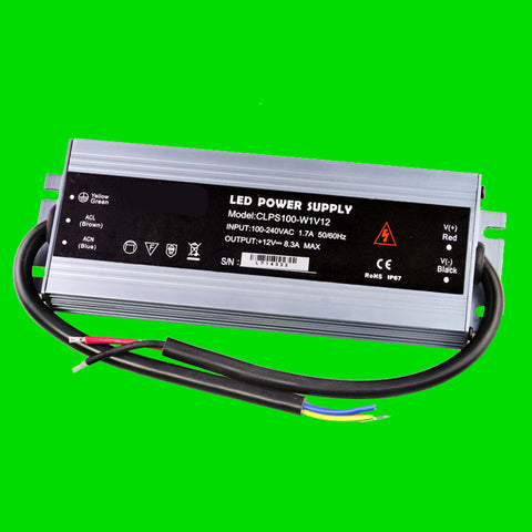 100 Watt CLPS IP67 Power Supply 12V for LED Strip Light