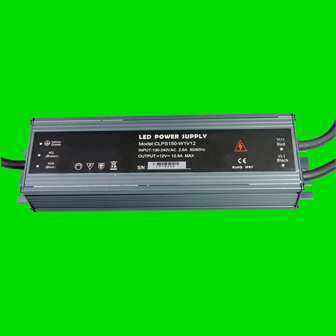 150 Watt CLPS IP67 Power Supply 12V for LED Strip Light