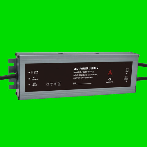 250 Watt CLPS IP67 Power Supply 12V for LED Strip Light