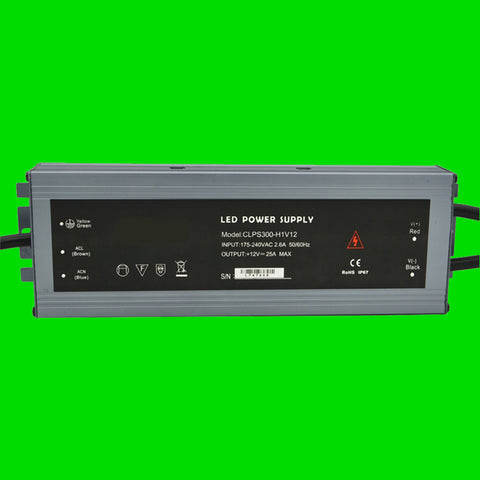 300 Watt CLPS IP67 Power Supply 12V for LED Strip Light