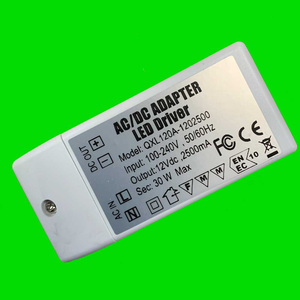 30W Slim Watt Power Supply 12V - Eden illumination - Kitchen Lighting & Commercial Lighting