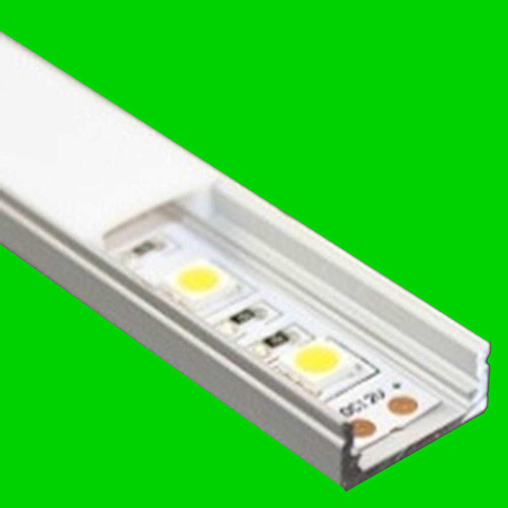 LP002 Aluminium Profile showing LED Strip Eden illumination