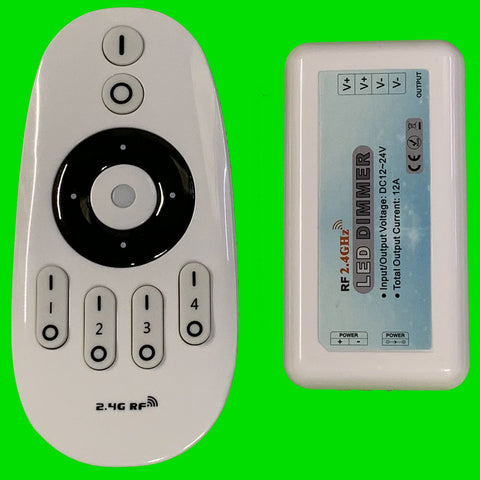 Touch - Wireless Remote & Controller for Single Colour LED Strip - Four Zone
