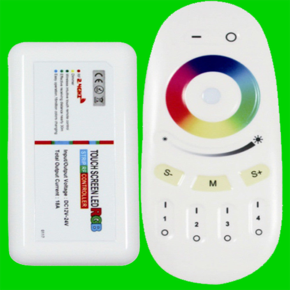 Touch Wireless Remote & Controller for RGB LED Strip - Four Zone - Eden illumination - Kitchen Lighting & Commercial Lighting