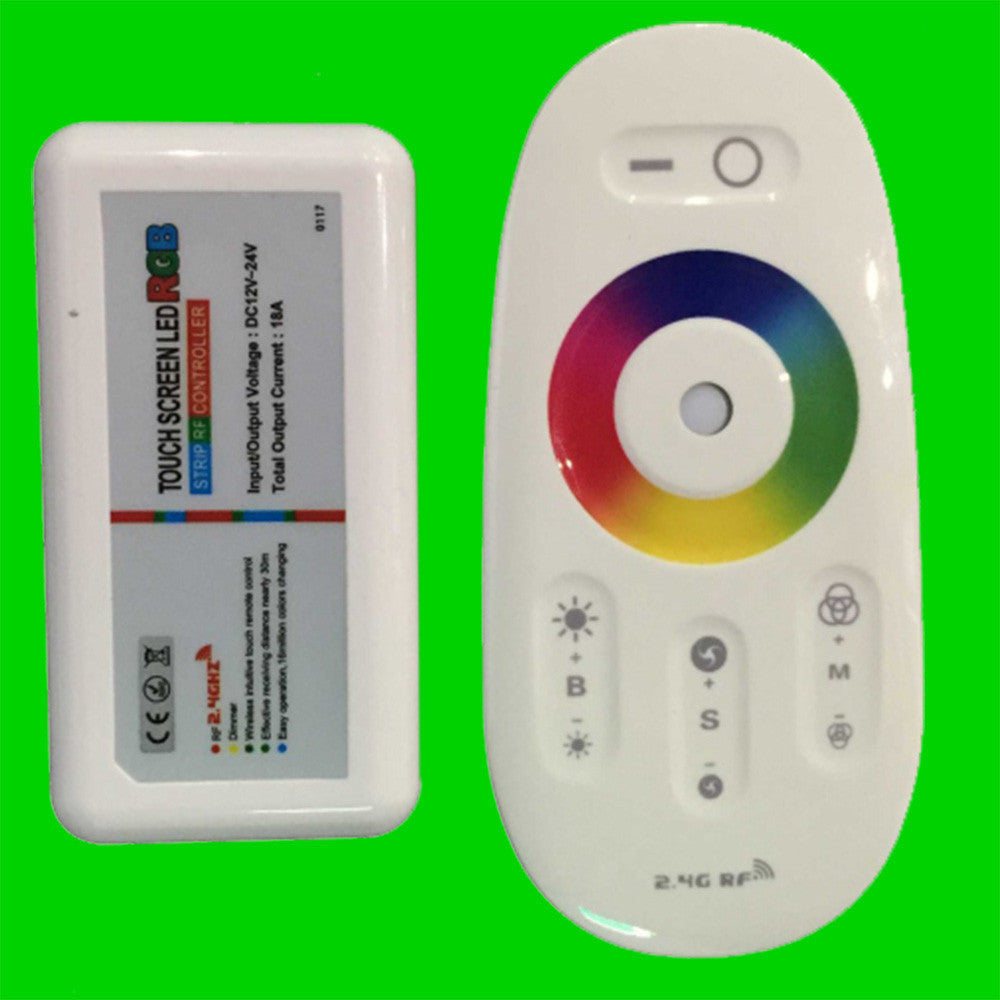 Front View Wireless Controller for RGB LED Strip Lights 1 Zone Eden illumination
