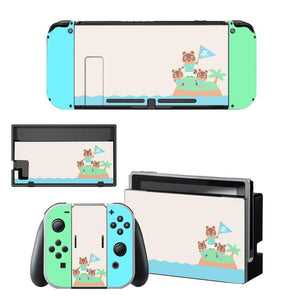 mon-accessoire-inutile.myshopify.com -  Stickers décoratif Animal Crossing Nintendo Switch