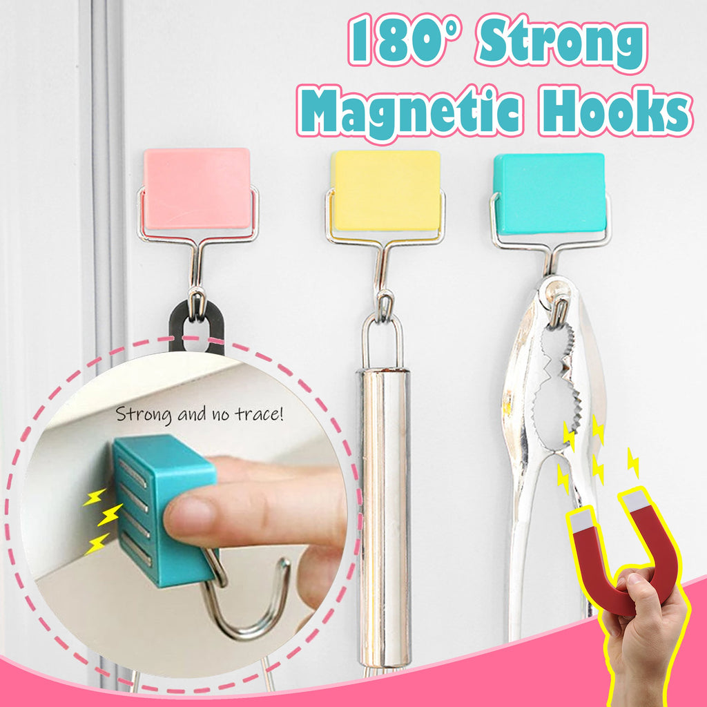 180° Strong Magnetic Hooks