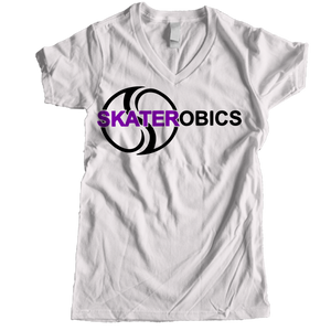 Skaterobics Women V-neck T-shirts