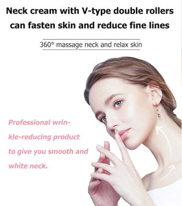 2 in 1 neck cream with double roller