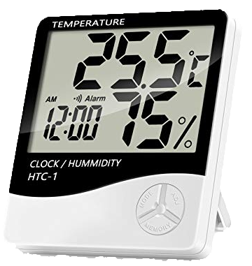 Digital Temperature & Humidity Thermometer Indoor Clock