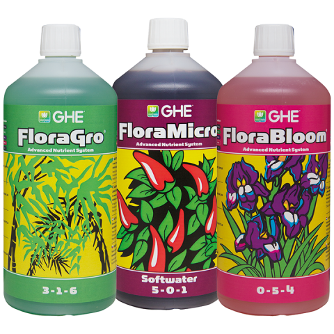 GHE TRI PACK FLORA HARD WATER