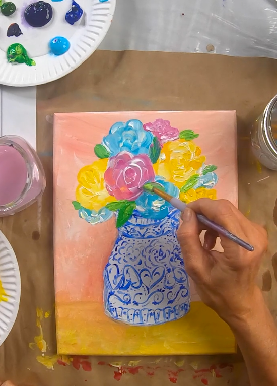 Vase Canvas Paint on Demand