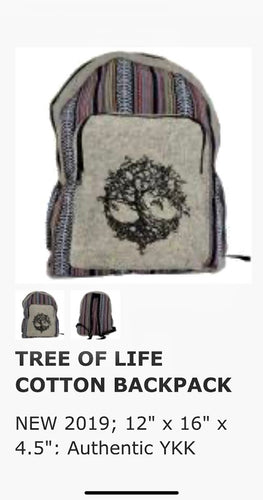 Bags- Cotton Tree Of Life Backpack