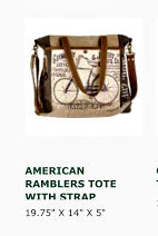 Bags- by Clea Ray American Rambler Tote with Straps