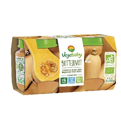 Vegebaby Pot Courge Butternut 2 X120 G