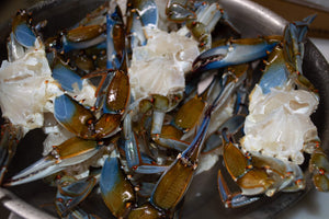 Blue crab cleaned