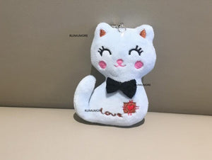 Sitting 7cm Cat Plush Stuffed Toy Doll New Key Chain Gift Plush Dolls