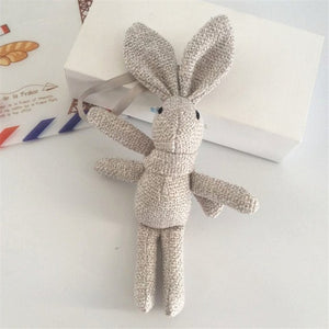 Rabbit Plush Animal Stuffed Dress Rabbit Key Chain Toy Kid's Party Plush Toy Bouquet Plush Dolls
