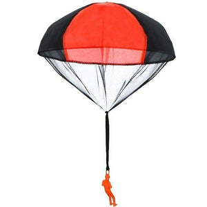 Hand Throwing Mini Soldier Parachute Funny Toy Kid Outdoor Game Play Toys Fly Parachute Sport