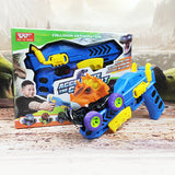 6pcs 6 styles High-quality Dinosaur Model Mini Toy Car Back Of The Car Truck For Boys Christmas Gift