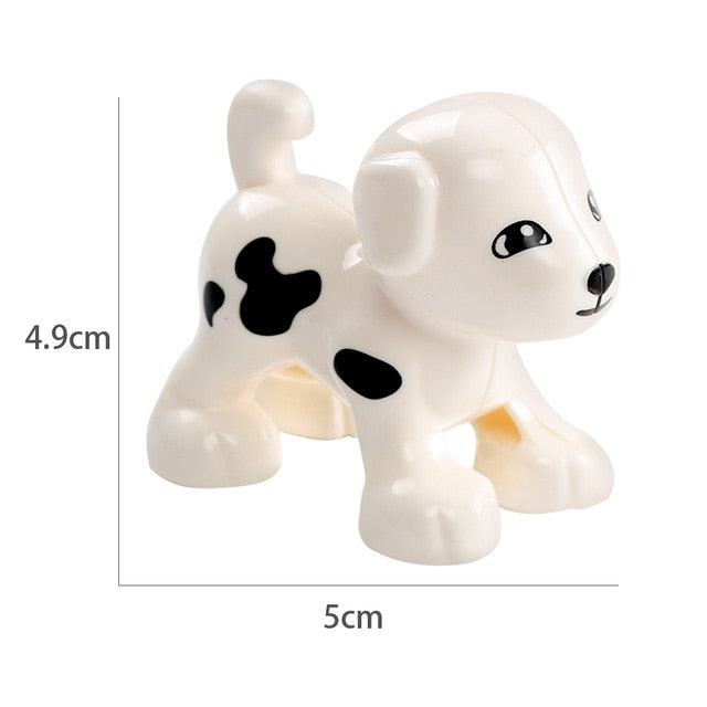 Animal Model Figures Compatible LegoINGlys Duploed Big Size Building Block DIY Cartoon Animal Brick