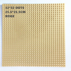 32*32 Dots Plastic Blocks Base Plates Pink Compatible Legoing City Mini Building Bricks Baseplates