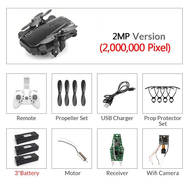 Foldable Mini Drone RC Quadrocopter HD Camera High Hold Helicopter VS E61 HS210 E511S S9HW E016H