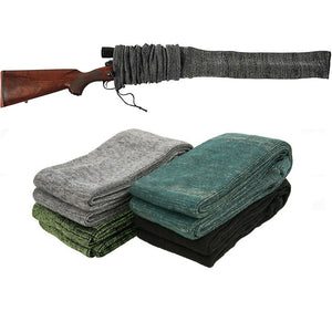"54"" Silicone Treated Gun Sock Polyester Rifle Fishing Rod Protection Cover Bag Case Hunting Caza"